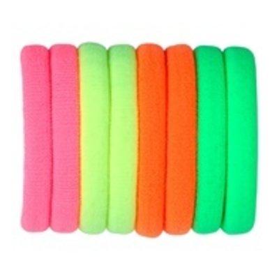 Set Haarbandjes neon - 80's