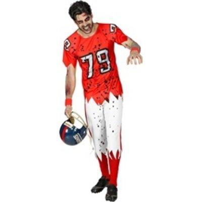 Zombie American Football Speler - kostuum