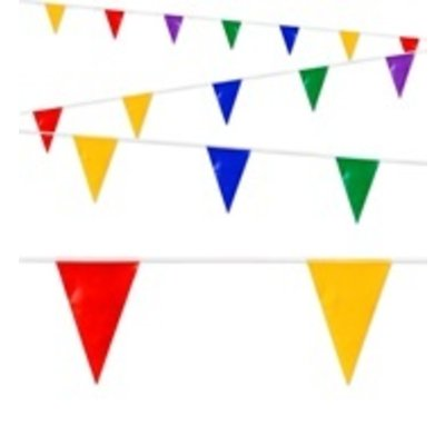 Vlaggenlijn Meerkleurig PVC - 10 meter