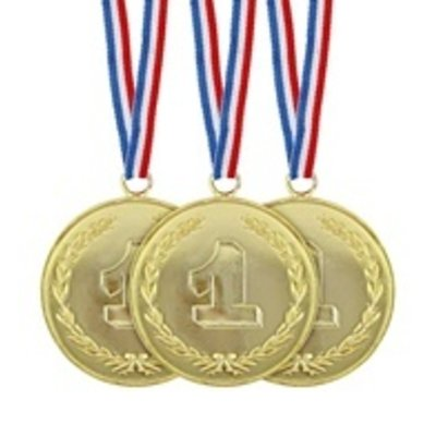 Set van 3 gouden medailles