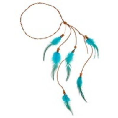 Veren Indianen Hoofdband  - Turquoise