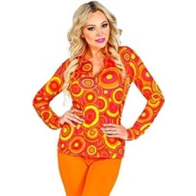 70's Damesshirt oranje/geel