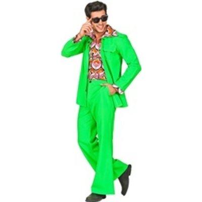 70's kostuum groen - heren