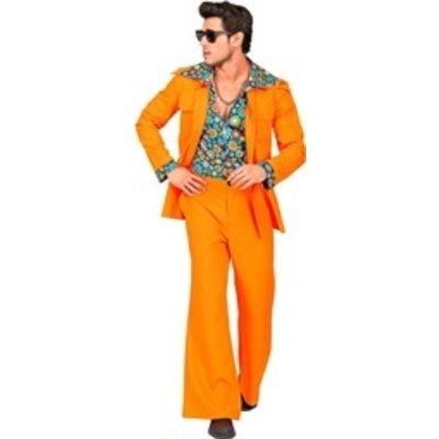 70's kostuum oranje - heren