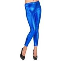 Widmann Legging Metallic Blauw