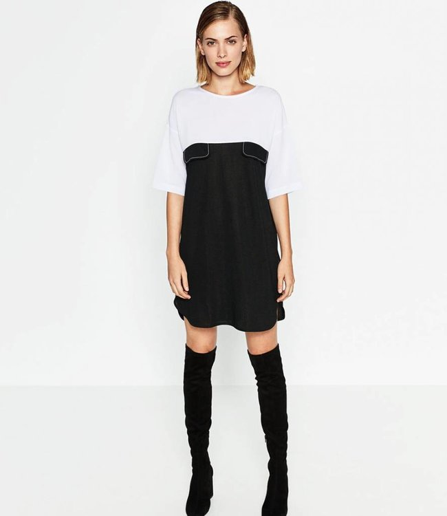 Zara Dress black/white