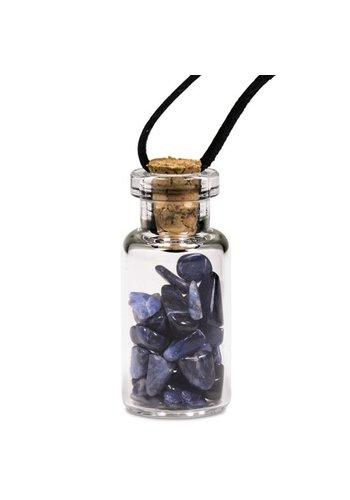 Yogi & Yogini naturals Geschenkflesje aan waxkoord met sodaliet (3.6 cm)