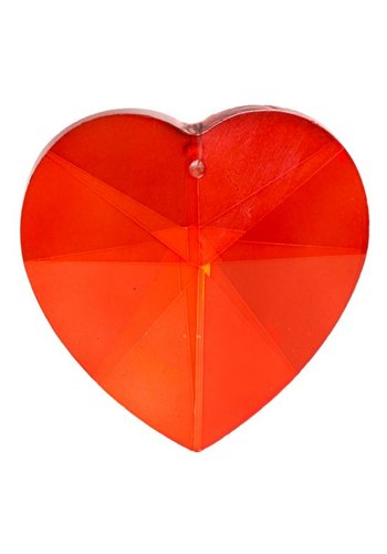Yogi & Yogini naturals Regenboogkristal hartvorm rood (5 cm)