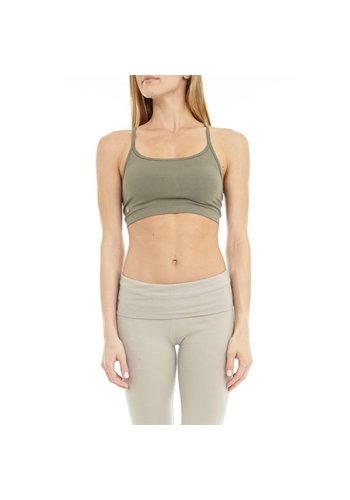 Yogi & Yogini naturals Yoga bra 'Ekam' stone (L)