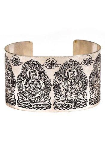 Yogi & Yogini naturals Armband Tara wit metaal (±7 cm)