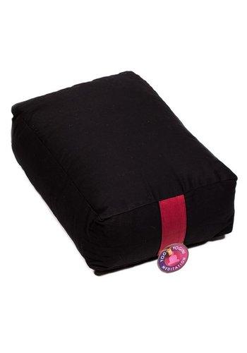 Yogi & Yogini naturals Meditatiekussen zwart (38x28x15 cm)