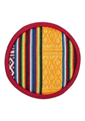 Yogi & Yogini naturals Klankschaalkussen plat Tribal design