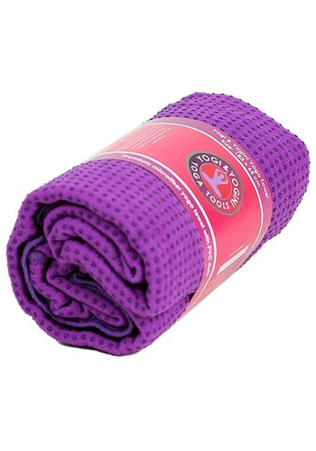 Yogi & Yogini naturals Yoga handdoek PVC antislip paars (183x65 cm)