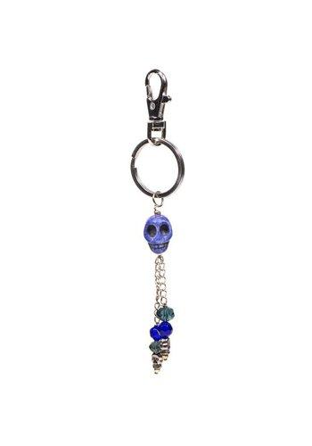 Yogi & Yogini naturals Sleutelhanger schedel blauw (14 cm)