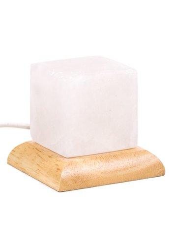 Yogi & Yogini naturals Himalayan Mini Mood zoutlampje kubus wit (±9 cm)
