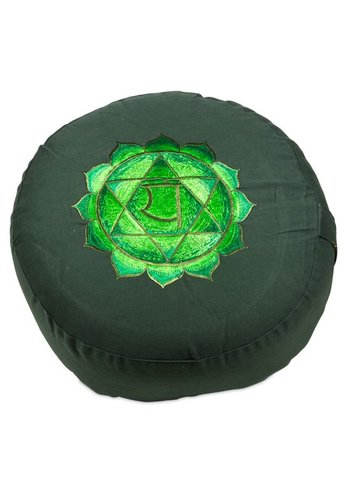 Yogi & Yogini naturals Meditatiekussen 4e chakra Anahata geborduurd (33x15 cm)