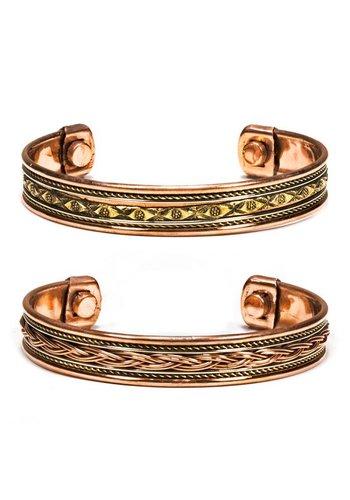Yogi & Yogini naturals Armbanden magnetisch koper (2 stuks)