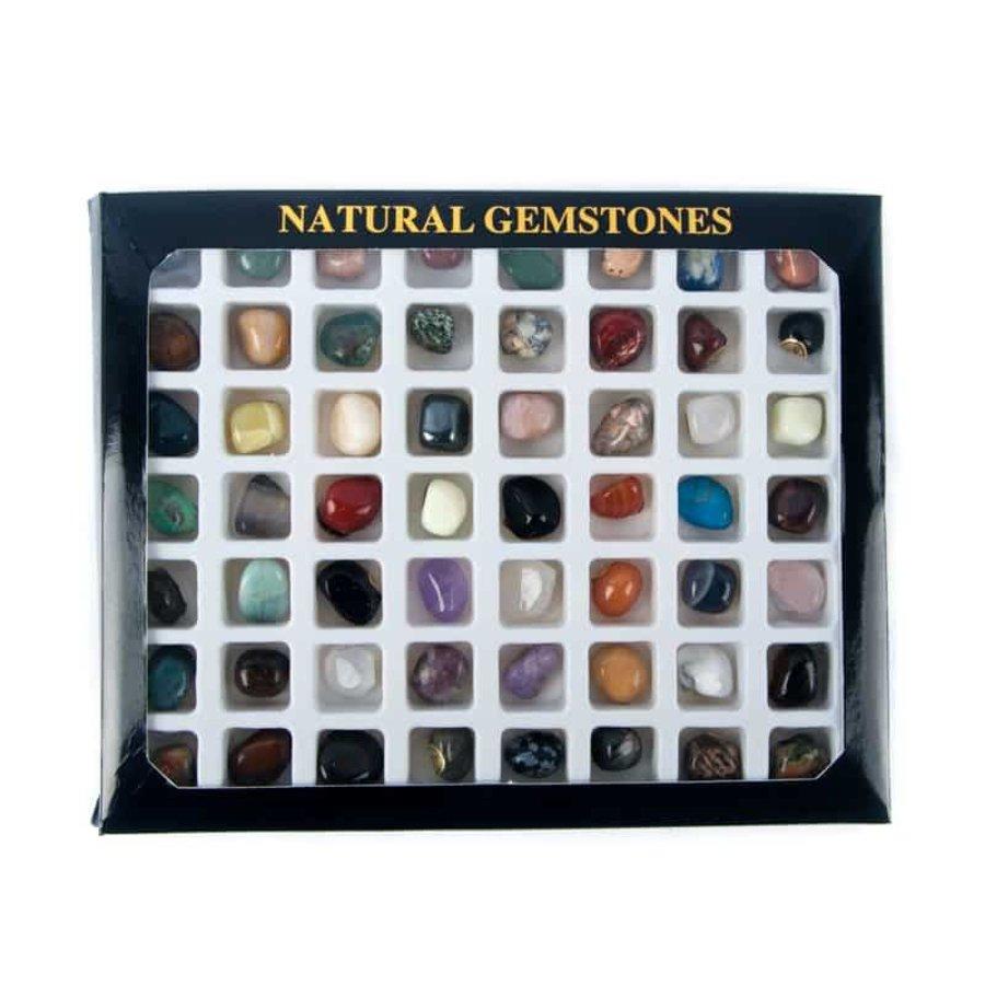 Geschenkdoos 56 diverse edelstenen