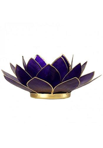 Yogi & Yogini naturals Lotus sfeerlicht violet 7e chakra goudrand (Ø 13.5 cm)
