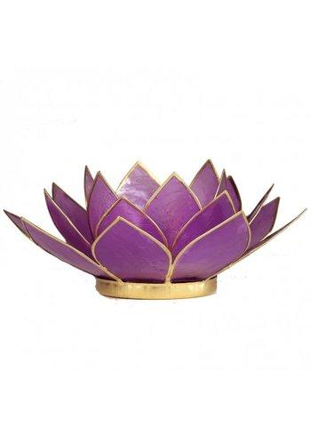 Yogi & Yogini naturals Lotus sfeerlicht lila (13.5 cm)