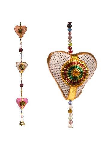 Yogi & Yogini naturals Decoratieve slinger hartjes jute (90 cm)