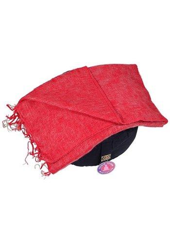 Yogi & Yogini naturals Meditatie omslagdoek  gemeleerd rood (200x80 cm)