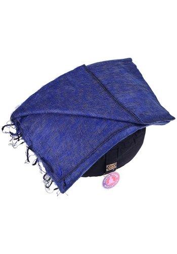 Yogi & Yogini naturals Meditatie omslagdoek effen donkerblauw (200x80 cm)
