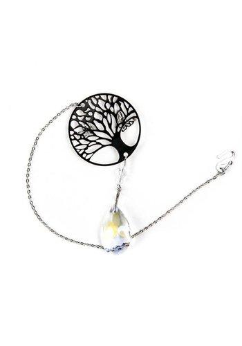 Yogi & Yogini naturals Kristallen met Tree of Life en druppel (wit)