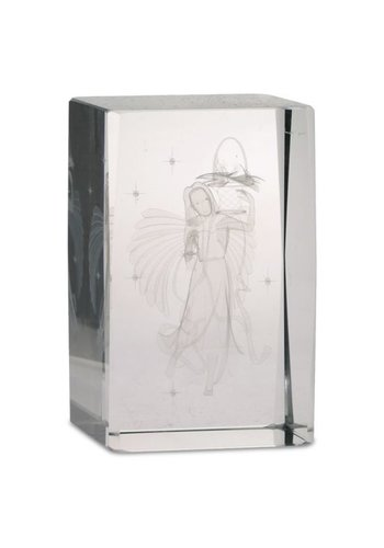 Yogi & Yogini naturals Kristal laser Bloemen Engel rechthoekig (8x5x5 cm)