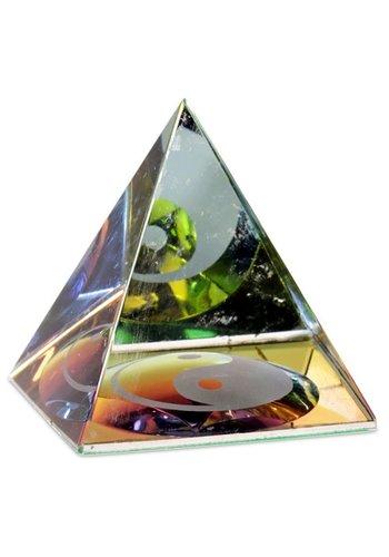 Yogi & Yogini naturals Kristal Piramide Yin Yang (6x6x6 cm)