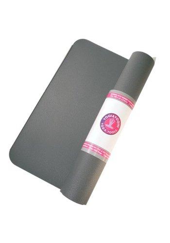 Yogi & Yogini naturals Yogamat antraciet rubber (185x60x0.4 cm)
