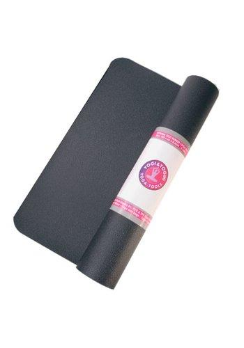Yogi & Yogini naturals Yogamat zwart rubber (185x60x0.4 cm)