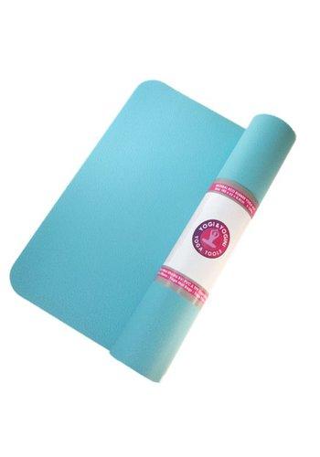 Yogi & Yogini naturals Yogamat turquoise rubber (185x60x0.4 cm)