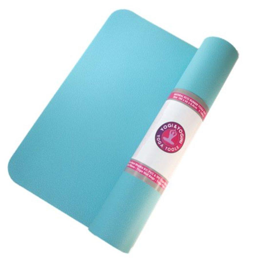 Yogamat turquoise rubber (185x60x0.4 cm)