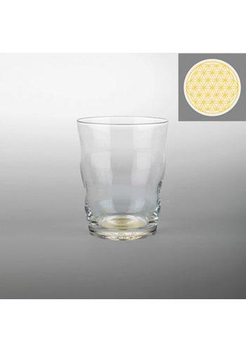 Nature's Design Drinkglas Jasmina met Bloem des Levens goud (300 ml)