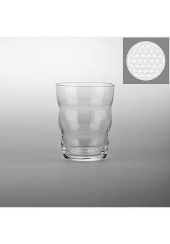 Nature's Design Drinkglas Jasmina met Bloem des Levens wit (300 ml)