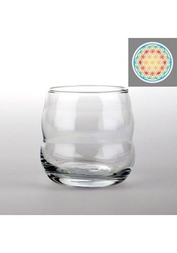 Nature's Design Drinkglas Mythos met Bloem des Levens veelkleurig (250 ml)