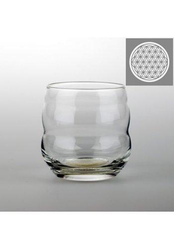 Nature's Design Drinkglas Mythos met Bloem des Levens wit (250 ml)