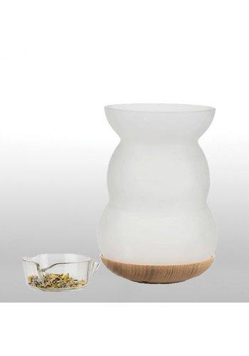 Nature's Design Aromalamp / wierookbrander met Bloem des Levens (16x11 cm)