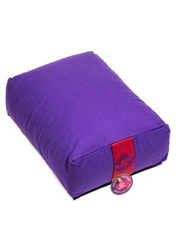 Yogi & Yogini naturals Meditatiekussen violet 7e chakra (38x28x15 cm)