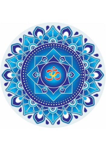 Yogi & Yogini naturals Raamsticker Blauwe Om Mandala (14 cm)
