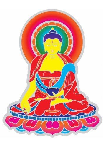Yogi & Yogini naturals Raamsticker Boeddha (14 cm)