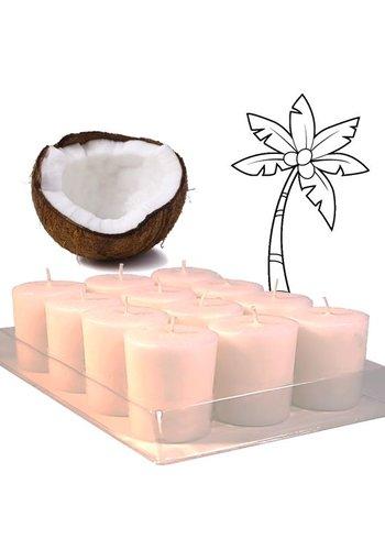 Greenpalm Votief kaars Green Palm kokoswas geurloos