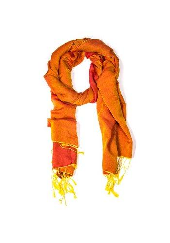 Yogi & Yogini naturals Sjaal Chakra Pashmina oranje (70x200 cm)