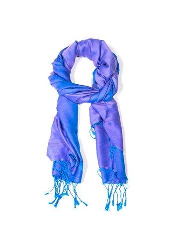 Yogi & Yogini naturals Chakra Pashmina sjaal blauw (70x200 cm)