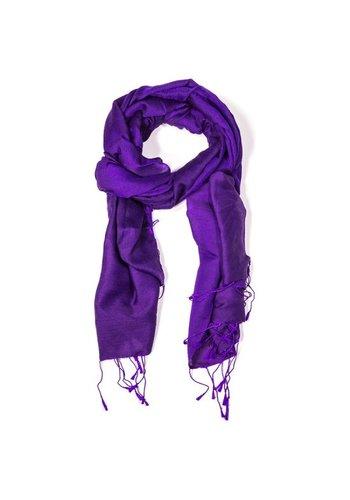 Yogi & Yogini naturals Chakra Pashmina sjaal violet (70x200 cm)