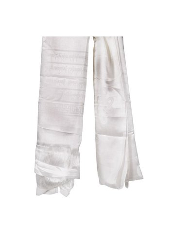 Yogi & Yogini naturals Tibetaanse luxe Katha sjaal wit XL (240 cm)