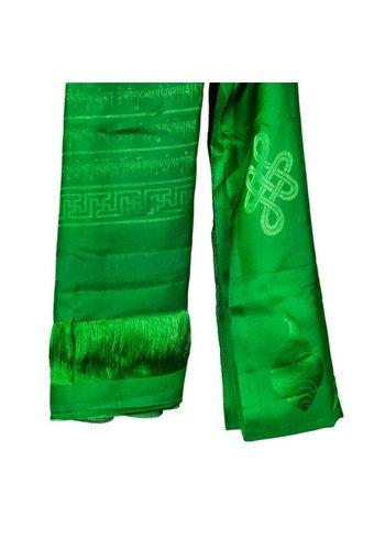 Yogi & Yogini naturals Tibetaanse luxe Katha sjaal groen XL (240 cm)