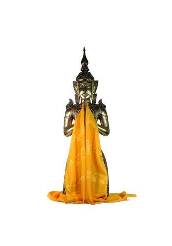 Yogi & Yogini naturals Tibetaanse luxe Katha sjaal geel XL (240 cm)