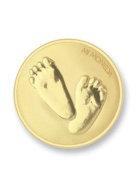 Mi Moneda Munt Baby Feet Gold